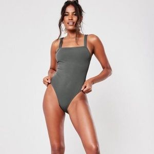 MISSGUIDED NWOT Square Neck Swimsuit